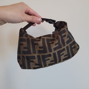 Vintage Fendi Zucca nylon mini pouch